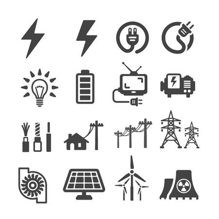 icono eléctrica Ilustración de vector