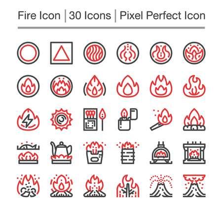 fire line icon,editable stroke,pixel perfect icon Illustration