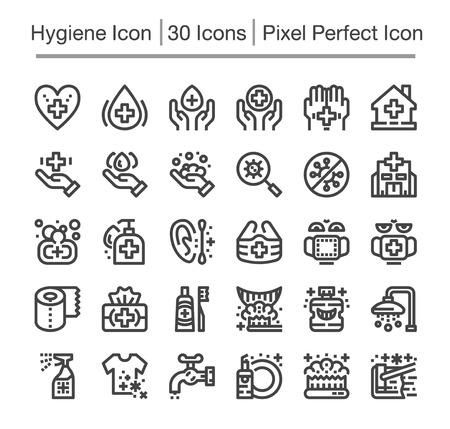 hygiene line icon,editable stroke,pixel perfect icon Ilustração