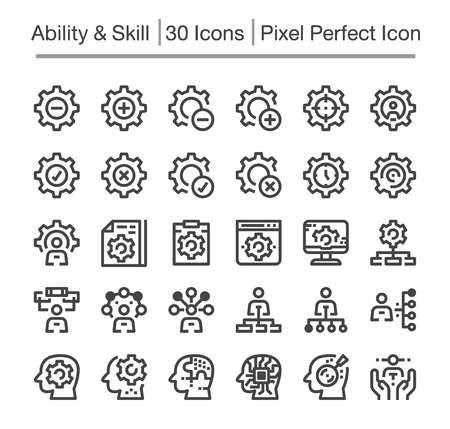 skill,ability line icon,editable stroke,pixel perfect icon Иллюстрация