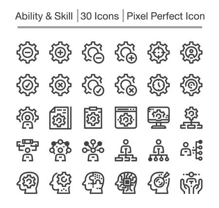 skill,ability line icon,editable stroke,pixel perfect icon Illustration
