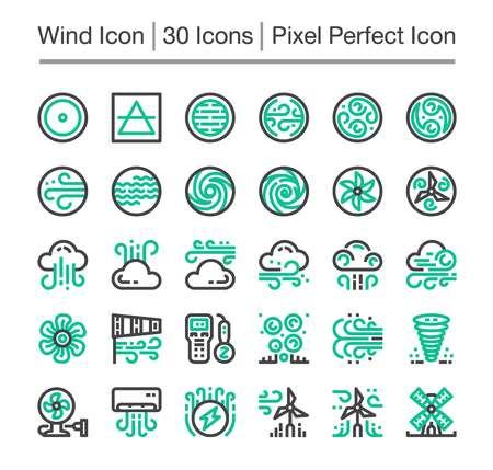 wind line icon,editable stroke,pixel perfect icon Illustration