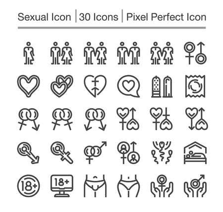 Sex,sexual line icon,editable stroke,pixel perfect icon