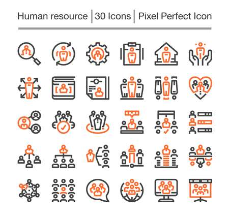 human resource line icon,editable stroke,pixel perfect icon Çizim