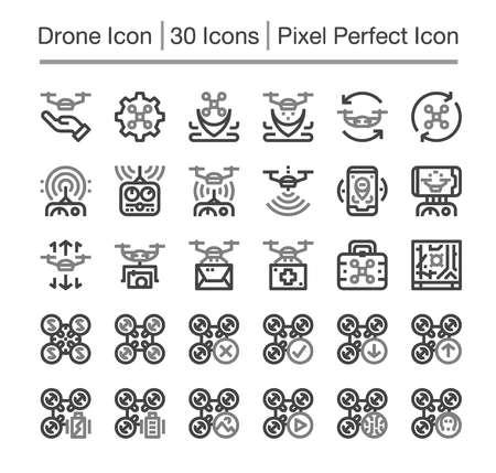 drone line icon,editable stroke,pixel perfect icon