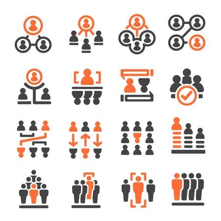 people management icon set,vector illustration Illusztráció