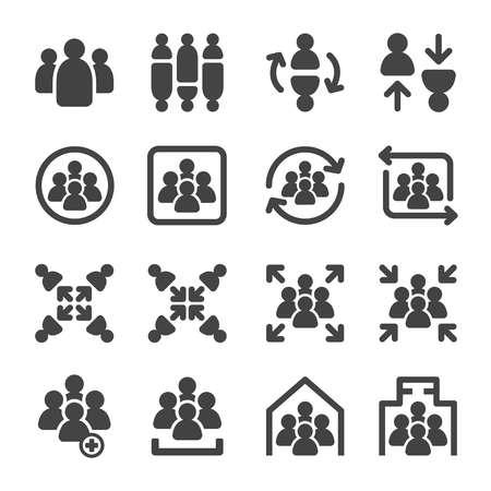 group,meeting icon set 向量圖像