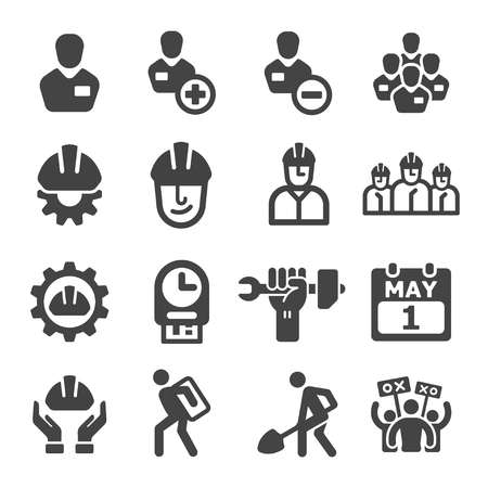 labour icon set