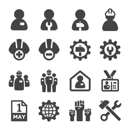 labour,crew icon set