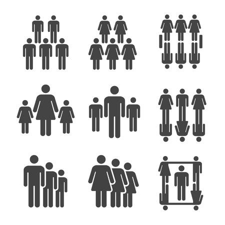 people,population icon set