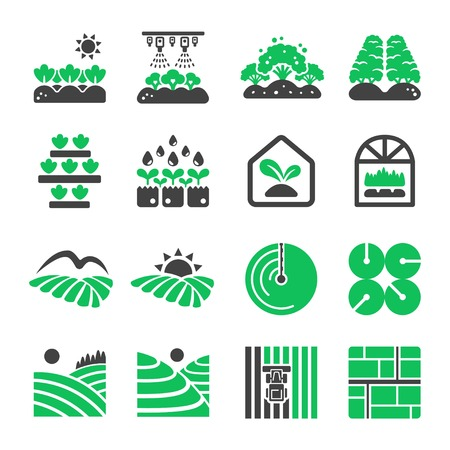 plantation icon set