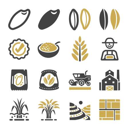 rijst pictogramserie