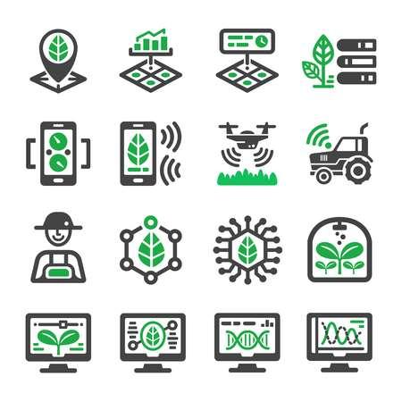 zestaw ikon inteligentnej farmy