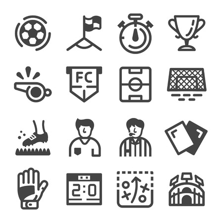 football and soccer icon set