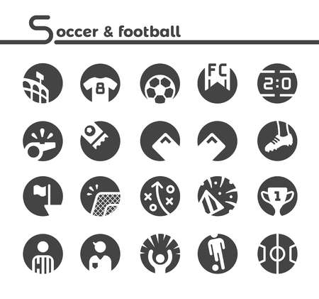 soccer and football icon,vector and illustration