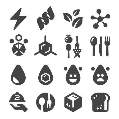 nutrition facts icon set Illustration