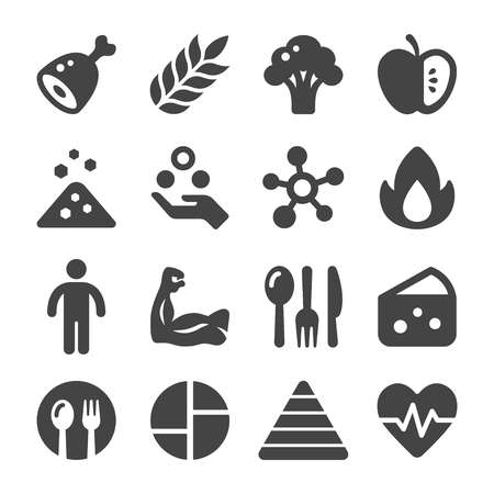 nutrition icon set