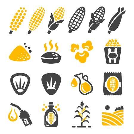 corn icon set