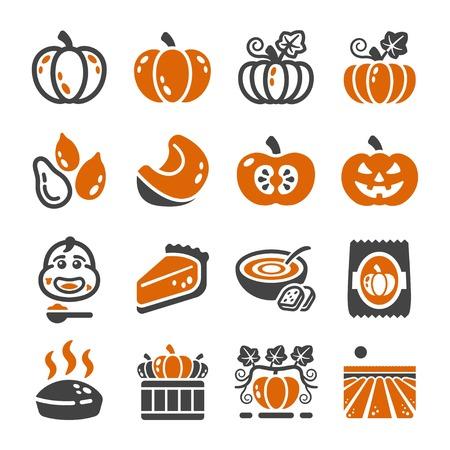 pumpkin,squash icon set Illustration