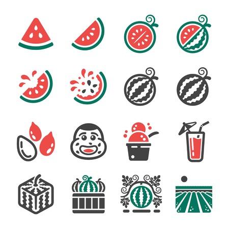 watermelon icon set