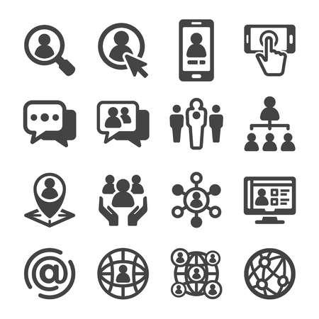 social network icon set Illustration