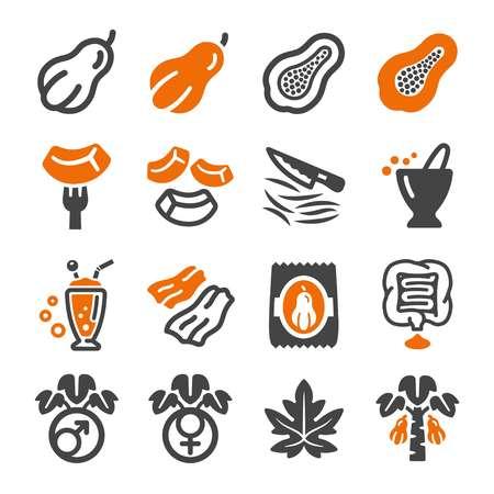 papaya icon set