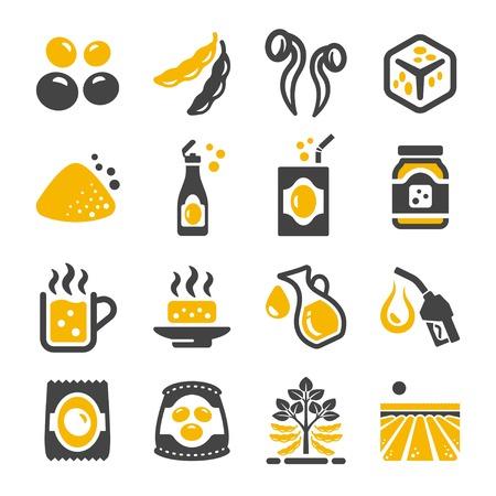 soybean icon set