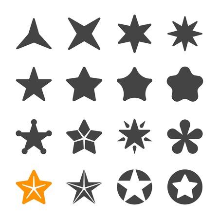 conjunto de iconos de estrella Ilustración de vector