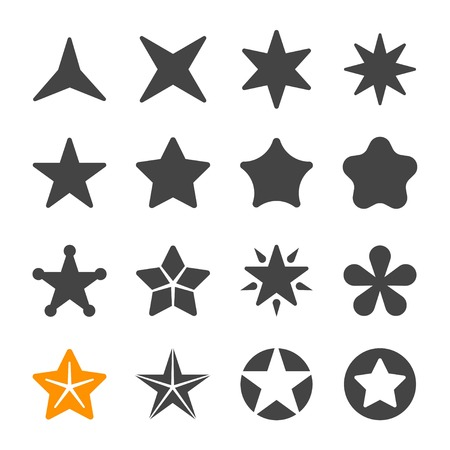zestaw ikon gwiazdy Ilustracje wektorowe