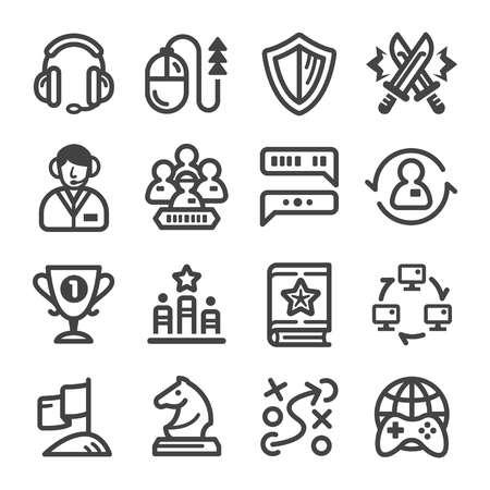 esport,cybersport icon line set Illustration