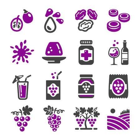 grape icon set