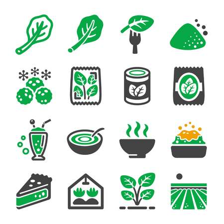 spinach icon set