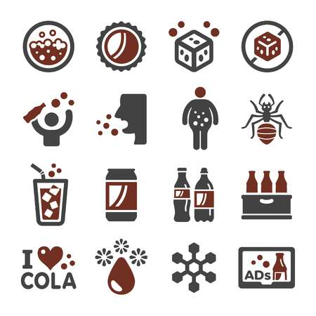 cola,carbonated water icon set