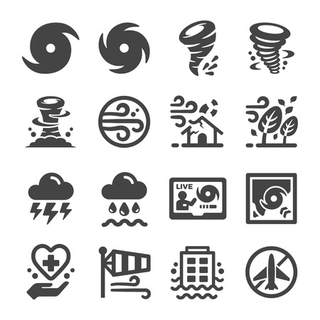 storm,hurricane icon set