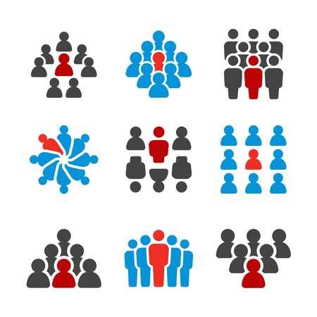 persona única, conjunto de iconos de personas destacadas