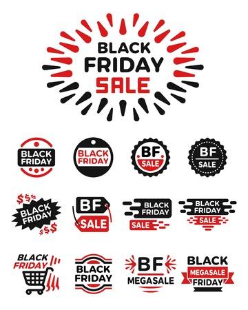 black friday banner set,icon set,vector and illustration
