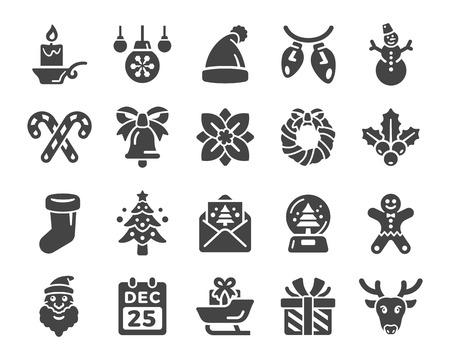merry christmas,xmas icon set Illustration