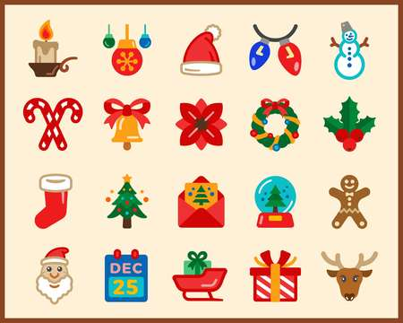merry christmas,xmas icon set,vector and illustration