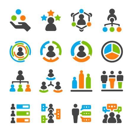 identity skill of people,user icon set,vector and illustration Иллюстрация