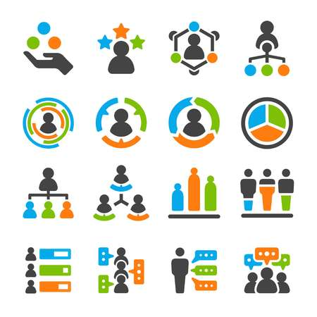 identity skill of people,user icon set,vector and illustration Illustration