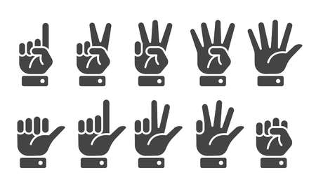 finger counting icon,vector and illustration Illustration