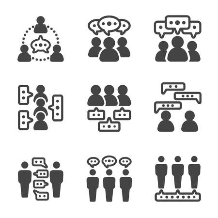 dialogue people,talking people icon,vector and illustration Vettoriali
