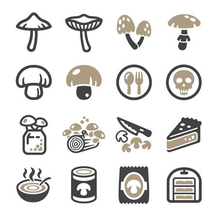 mushroom icon set,vector and illustration