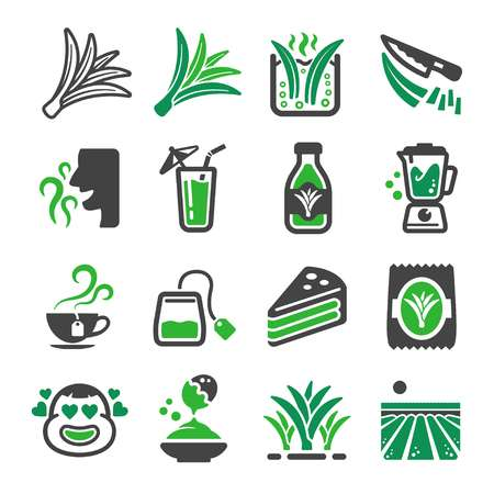 pandan icon set,vector and illustration Illustration