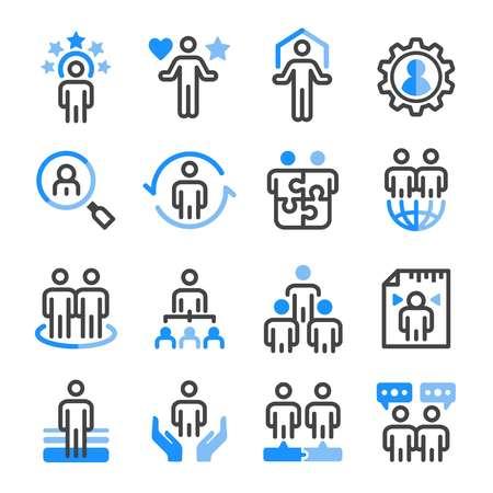 human resource icon set,vector and illustration