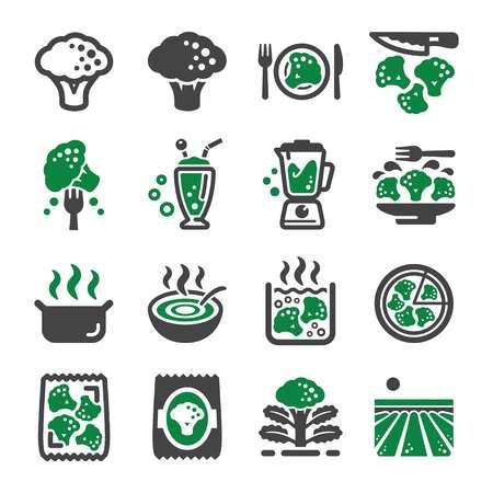 broccoli icon set,vector and illustration Illustration