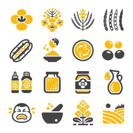 mustard icon set,vector and illustration