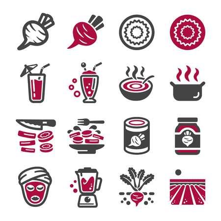 beetroot icon set,vector and illustration Illusztráció
