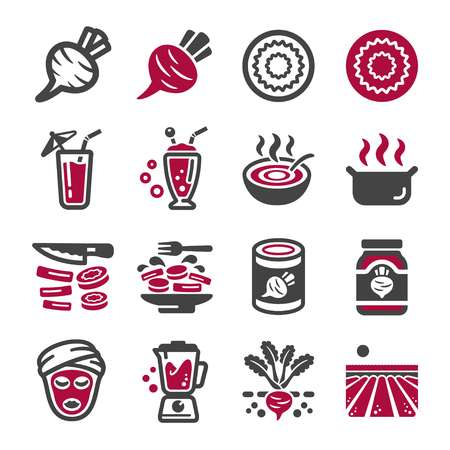 beetroot icon set,vector and illustration Illustration