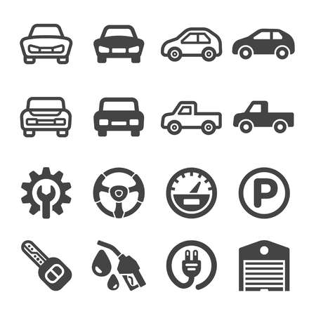 car icon set,vector and illustration